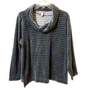 White Stag Sweater/Top Gray/Metallic - Size XL